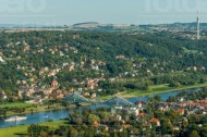 Das Blaue Wunder in Dresden an der Elbe bei Sachsen.