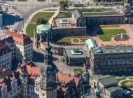 Hofkirche und Zwinger in Dresden im Bundesland Sachsen