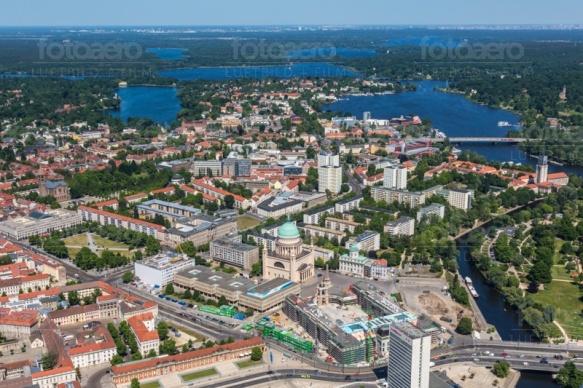 Die nördliche Innenstadt von Potsdam bei Brandenburg.