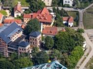 Blaues Wunder am Dresdner Elbufer im Bundesland Sachsen