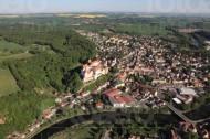 Der Ort Colditz im Bundesland Sachsen mit Blick auf Terpitzsch.