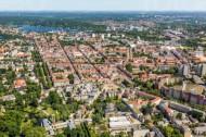 Der Luisenplatz in der nördlichen Innenstadt von Potsdam bei Brandenburg.