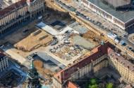 Baustelle am Altmarkt in Dresden im Bundesland Sachsen