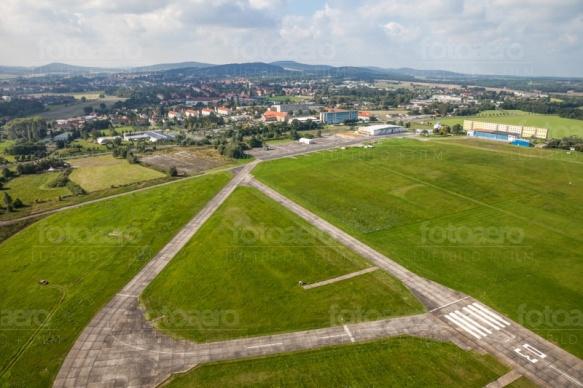Kamenz mit Flugplatz im Bundesland Sachsen
