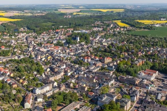 Große Kreisstadt Mittweide im Bundesland Sachsen.