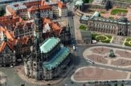 Katholische Hofkirche in Dresden im Bundesland Sachsen