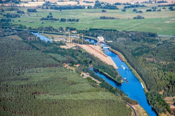 Schiffshebewerk Niederfinow in Niderfinow im Bundesland Brandenburg