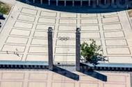 Eingang zum Berliner Olympiastatium.