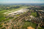 Flughafen in Dresden Klotzsche im Bundesland Sachsen