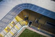 Sitzplätze im Stadion in Dresden im Bundesland Sachsen