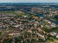 Die Wilsdruffer Vorstadt mit Blick auf die Leipziger Vorstadt in Dresden bei Sachsen.