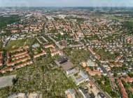 Blick auf den Dresdner Stadtteil Striesen im Bundesland Sachsen